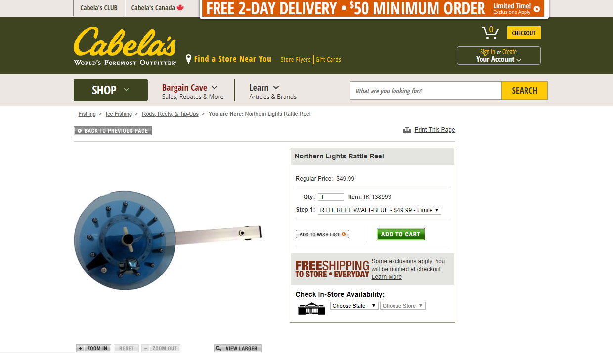 Idea Buyer Product Cabelas Rattle Reel Success